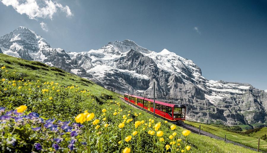 Švýcarsko Grindelwald, Jungfraubahn Moench-Jungfrau
