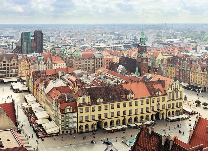Rynek Glowny, Wroclaw, Polsko