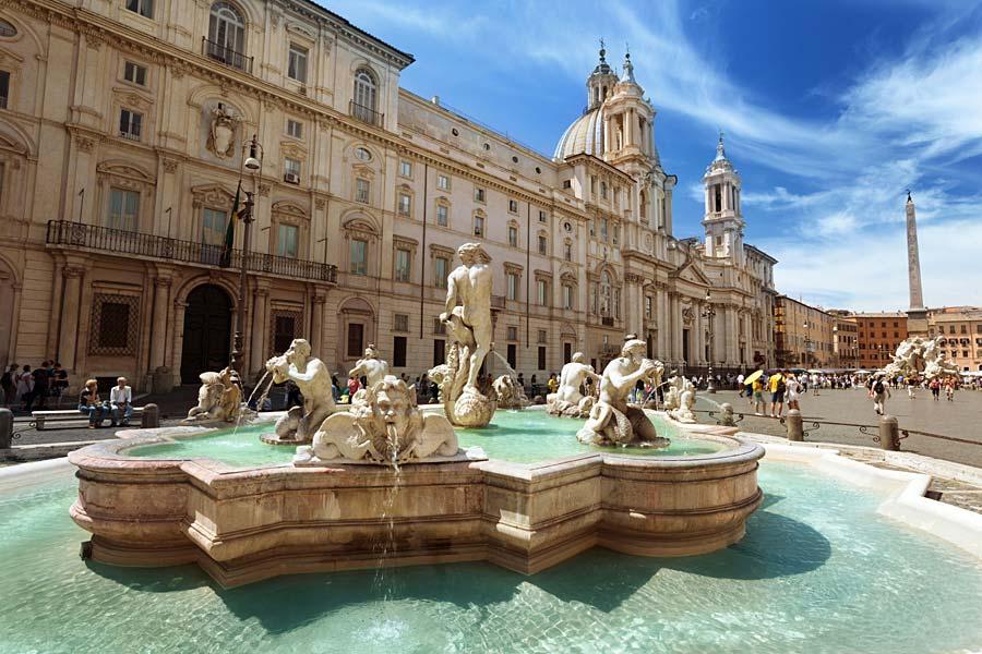 Piazza Navona, Řím, Itálie