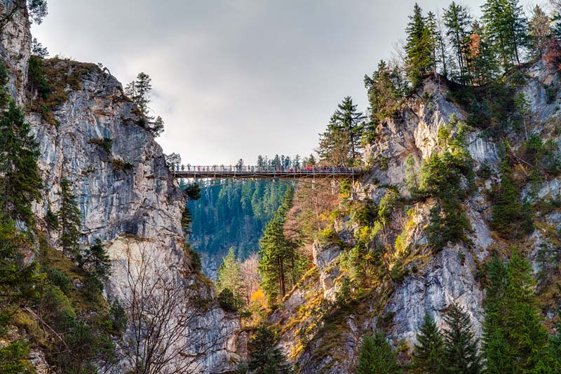 Marienbrücke, Neuschwanstein, Německo
