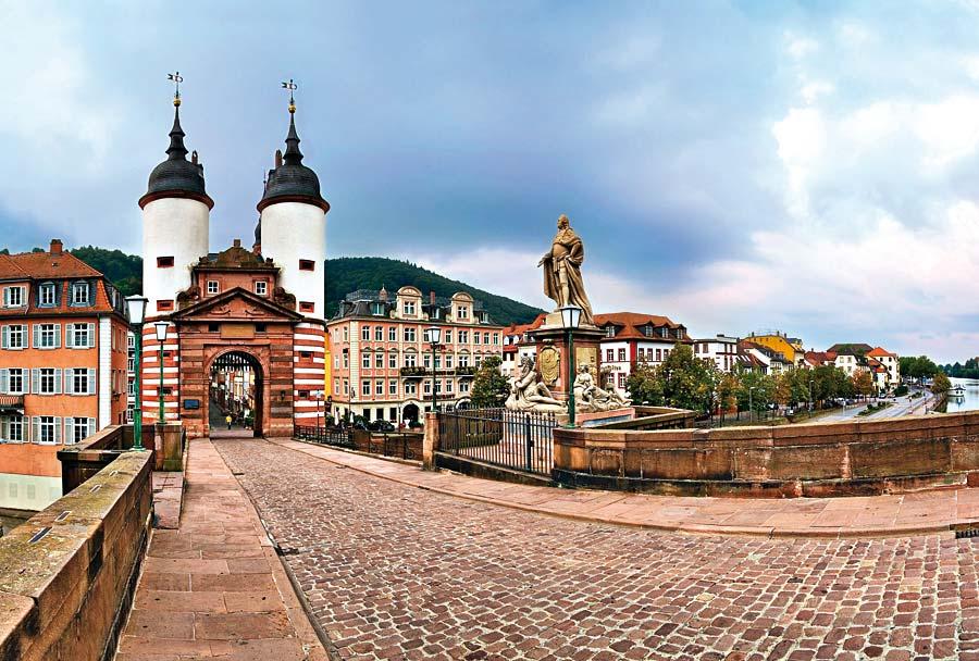 Alte Brücke, Heidelberg, Německo