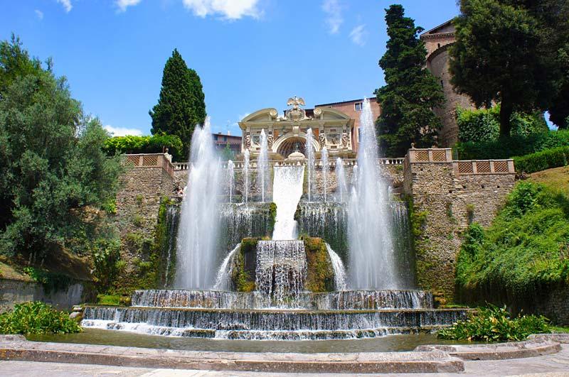 Villa d´Este, Tivoli, Itálie