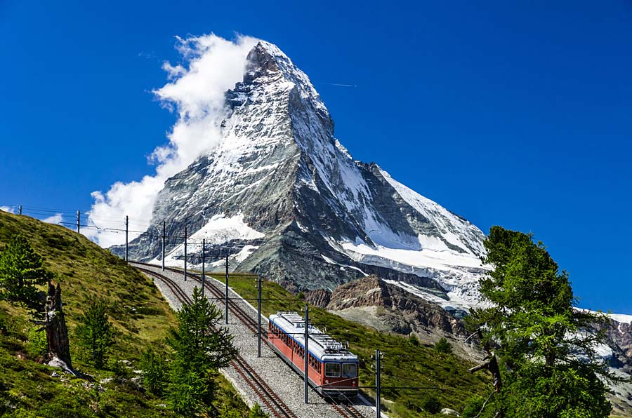Gornergratbahn, Zermatt, Švýcarsko