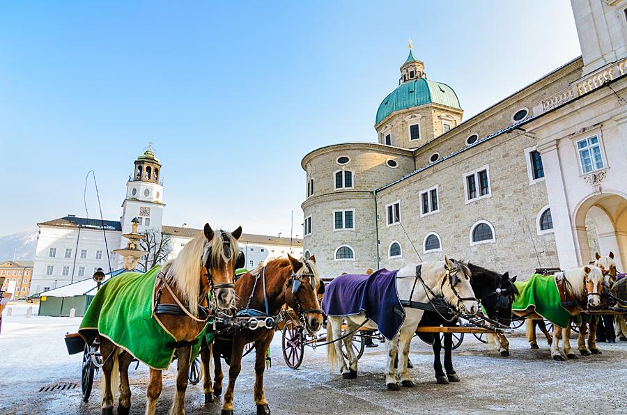 Rakousko Salzburg, Residenzplatz