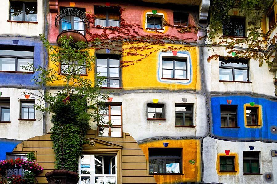 Hundertwasserhaus, Vídeň, Rakousko