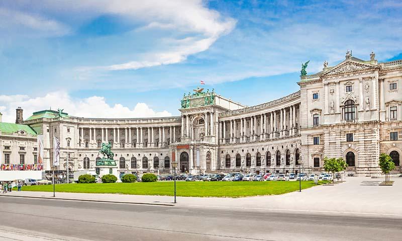 Hofburg Heldenplatz, Vídeň, Rakousko