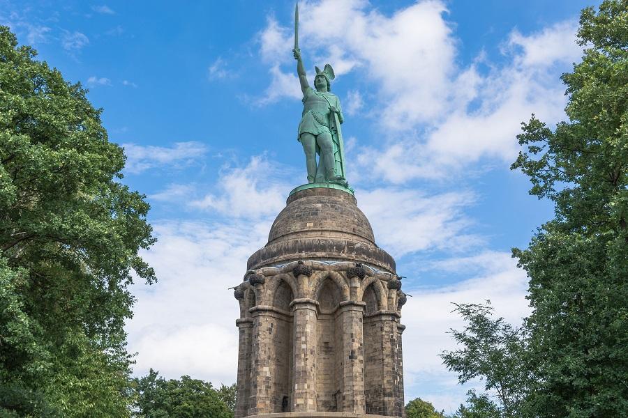 Nemecko Teutoburský les, socha Armina