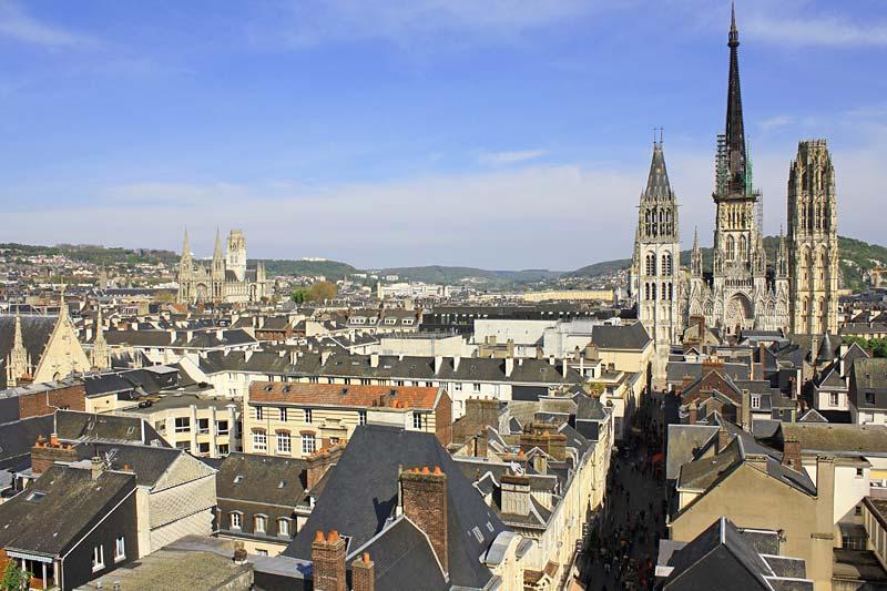 katedrála Notre Dame, Rouen, Francie