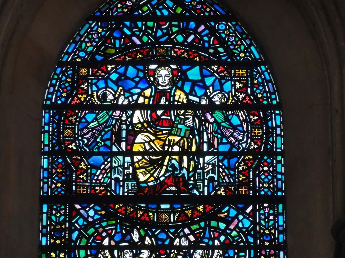 Temple churh - východní okno, Londýn, Anglie