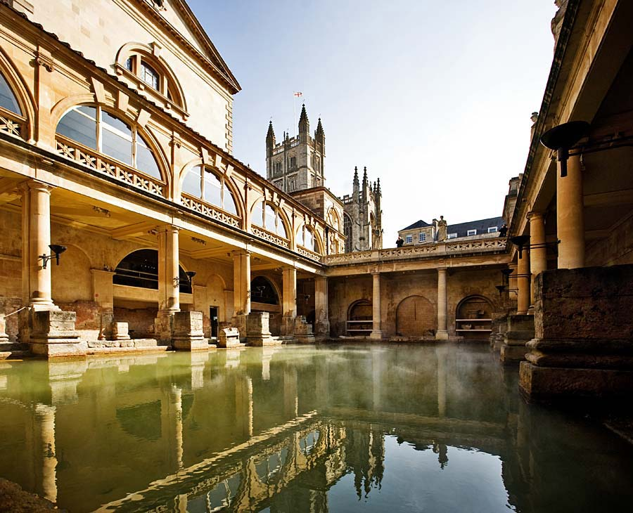 Roman Baths, Bath, Anglie