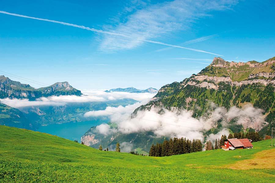 Města a hory Švýcarska
