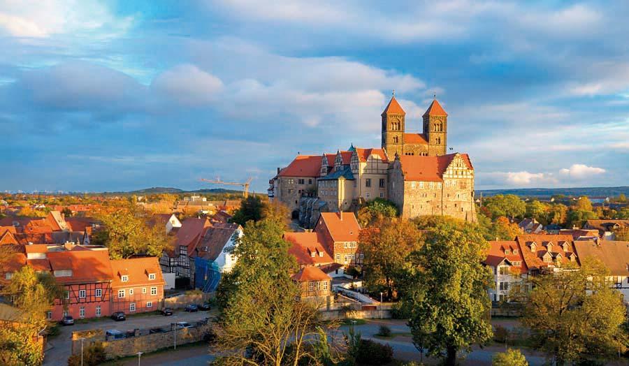 zámecký komplex Quedlinburg, Německo