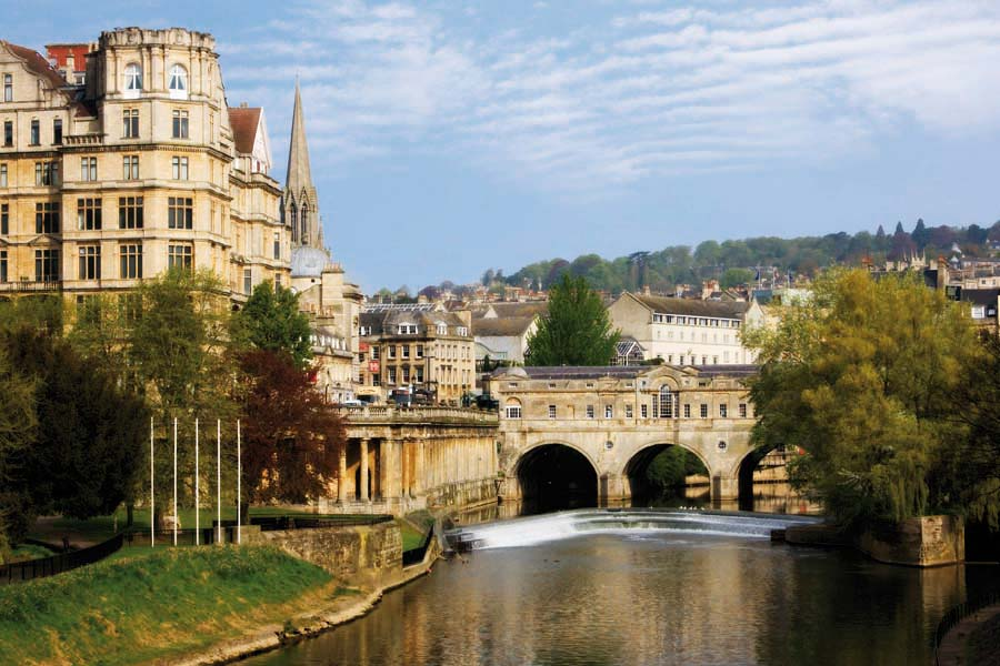 Pulteney Bridge, Bath, Anglie
