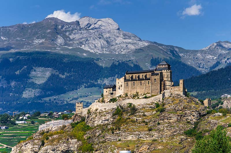 hrad Tourbillon, Sion, Švýcarsko