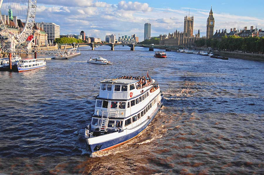 řeka Temže, Londýn, Anglie